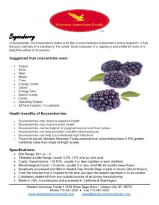 Boysenberry Product Sheet