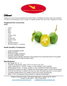 Calamansi Product Sheet