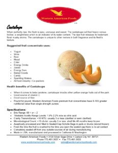 Cantaloupe Product Sheet