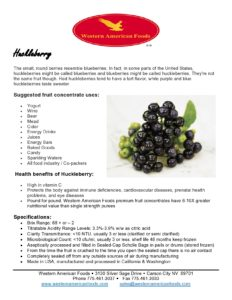 Huckleberry Product Sheet