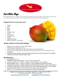 Kent-Atkins Mango Product Sheet