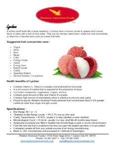 Lychee Product Sheet