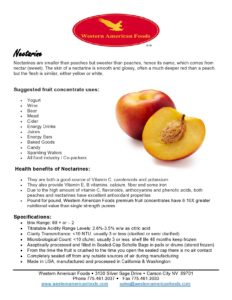 Nectarine Product Sheet