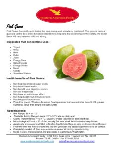 Pink Guava Product Sheet