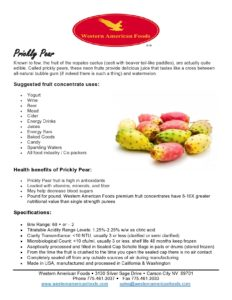 Prickly Pear Product Sheet