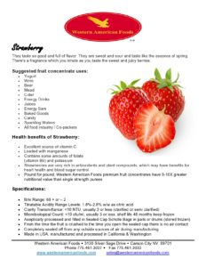 Strawberry Product Sheet