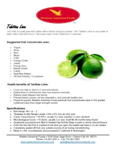 Tahitian Lime Product Sheet (1)