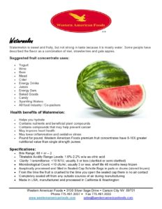 Watermelon Product Sheet